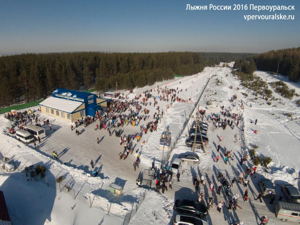 Аэрофото Лыжня России 2016 Первоуральск #аэрофото #ЛыжняРоссии