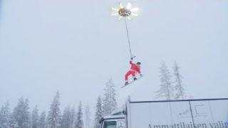Дед мороз на беспилотнике